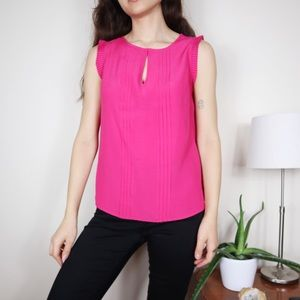 Boden Clara Pleated Front Sleeveless Top Pink